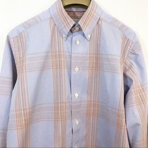 Eton Contemporary Checkered Plaid Button Shirt